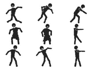 zombie stick figure set