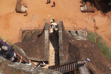 Le rocher de Sigiriya au Sri Lanka