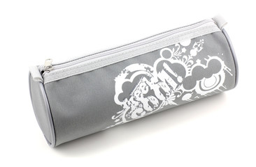pencil-case on white background.