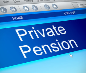 Private pension concept.