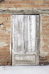 Deteriorated wood door