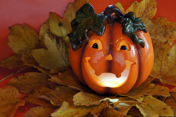 Halloween pumpkin with a toothy smile