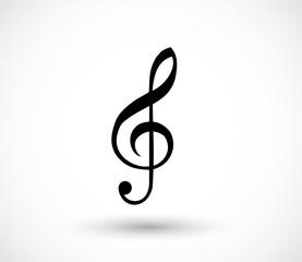 G-clef icon vector