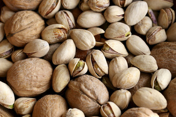 pistachios and walnuts