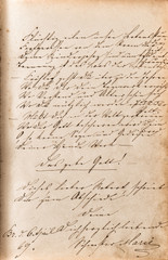 vintage handwriting. manuscript. grunge paper background