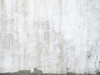 Fototapete - Closeup concrete wall texture with plaster and white paint