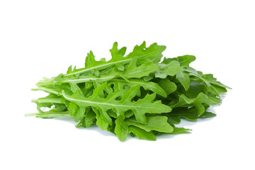 Rucola isolated on white background