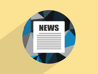 Flat icon of news, Flat design style