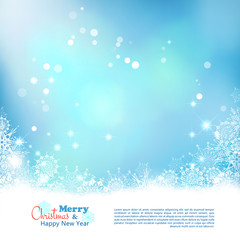 Christmas Abstract Bokeh Vector Background