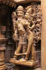 Decorative carving of Jain temples, Jaisalmer, India