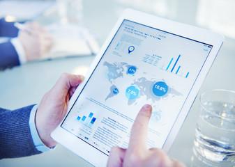 Businessman on an Online Financial Assessment