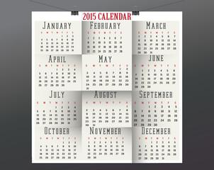 Paper Calendar-2015
