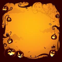 Halloween pumpkin border for design