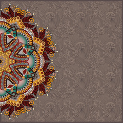 pattern in ukrainian oriental ethnic style for your greeting