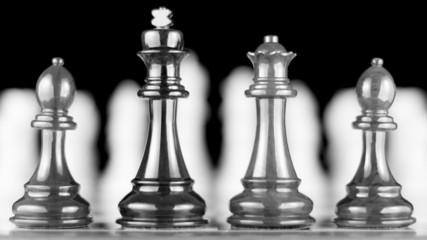 Four chess piece