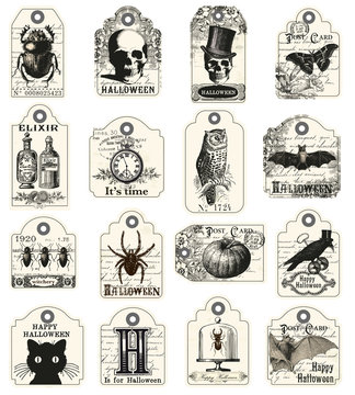 16 tags for halloween