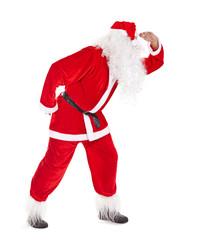 Santa Claus look far away
