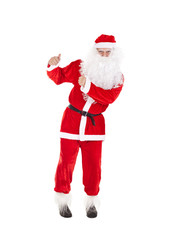 Santa Claus with thumb up sign
