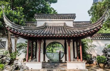 Foto op Aluminium Hong-Kong round gate Kowloon Walled City Park Hong Kong