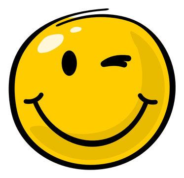 Smiley zwinkern