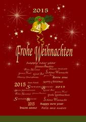 Weihnachten, Silvester  2015  Grusskarte