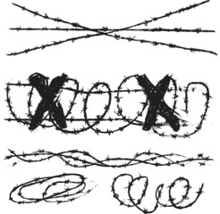 doodle barbed wire