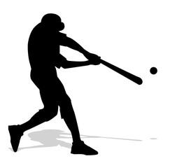 silhouette di giocatore di baseball