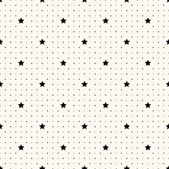Vector seamless retro pattern with stars