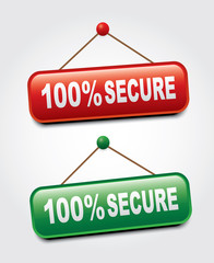 100% secure signs