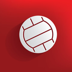 Volleyball design on red background,clean vector