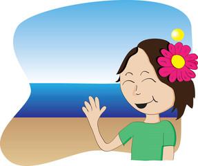 Vector Hawaiian Girl