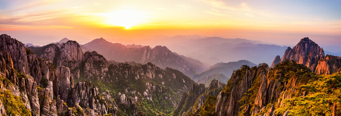 Photo sur Toile Chine Huangshan Mountains in China