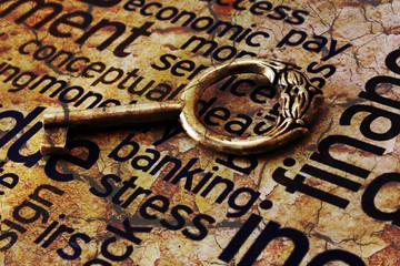 Golden key on banking stress