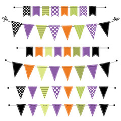 Halloween banner, bunting or flags