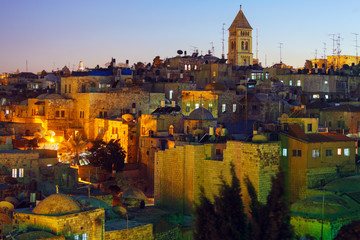 Jerusalem Old City at Night, Israel