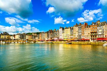 Honfleur skyline harbor and water. Normandy, France Fototapete
