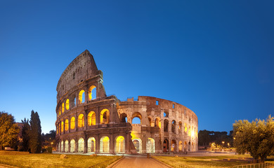Wall Mural - Colosseum at night .Rome - Italy
