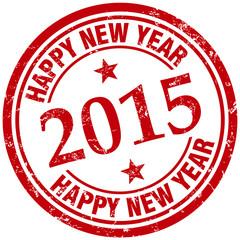 2015 happy new year stamp