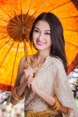 Portrait of Thai young lady