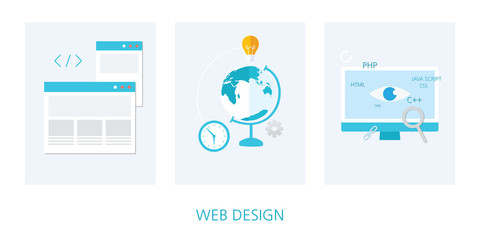 web design concept icon set