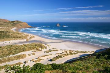 Wall Mural - Beautiful Inviting Beach at Sandfly Bay, Otago Peinsula, New Zea