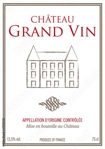 """Souvent Étiquette bouteille de vin"""" fichier vectoriel libre de droits sur  EG17"""
