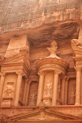 The urn atop the Treasury in Petra, Jordan