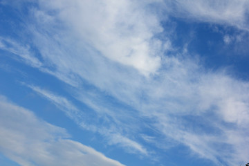 clouds in the blue sky...