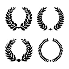 Laurel Wreaths Set. Vector