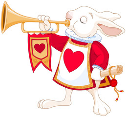 Canvas Prints Fairytale World Bunny royal trumpeter