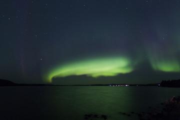 Polarlicht über Jokkmokk in Schweden