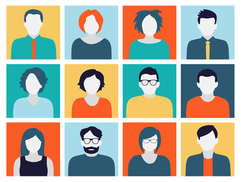 Avatars - Characters in Flat Design Style