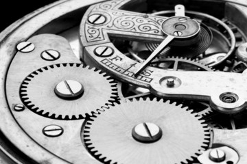 antique clock machinery