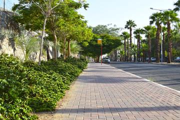 Eilat morning street - Sderot Hativat HaNegev